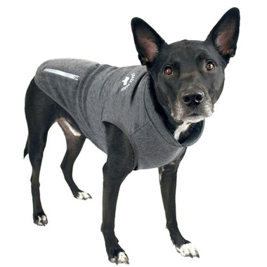 Canada Pooch Rocky Ridge Back-Zip Vest in Grey Melange Size 20