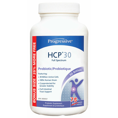 Progressive HCP30 100% Human Strain Probiotic Bonus Size