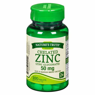 Nature\'s Truth Chelated Zinc Gluconate 50 mg
