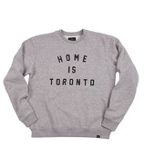 Peace Collective Home is Toronto Varsity Crewneck Grey