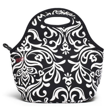 Built Gourmet Getaway Lunch Tote Damask Black & White