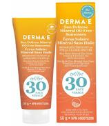 Derma E Sun Defense Lotion solaire minérale FPS 30 pour le visage