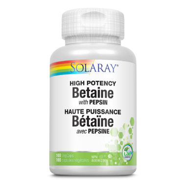 Solaray Betaine with Pepsin 650 mg