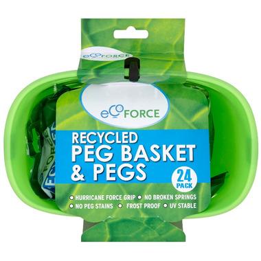 EcoForce Recycled Peg Basket & Pegs