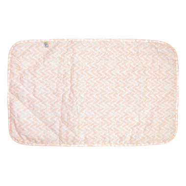 Perlimpinpin Medium Change Pad Pink Chevron