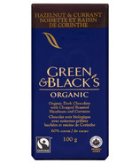 Green & Black's Organic Dark Chocolate Hazelnut & Currant Bar