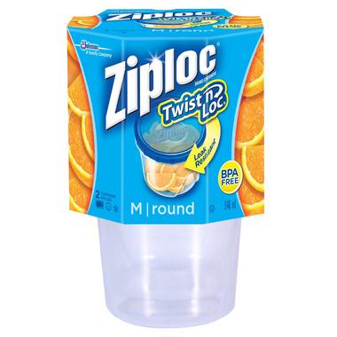 Ziploc Twist \'N Loc Medium Round Containers