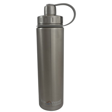 Eco Vessel Boulder Insulated Water Bottle in Silver
