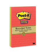 Post-it Super Sticky Recycled Lined Notes