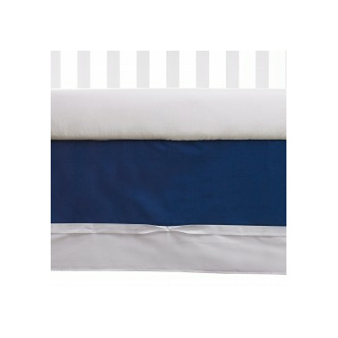 Living Textiles Bed Skirt Navy & White