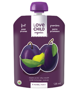 Love Child Organics Baby Food Pouch First Pear + Prune