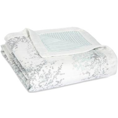 aden + anais Bamboo Silky Soft Dream Blanket Metallic Skylight Birch