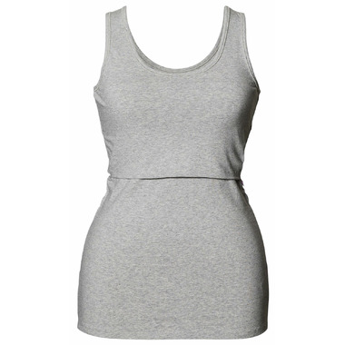 Boob Classic Tank Top with Organic Cotton Grey Melange
