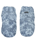 Calikids Iceland Acrylic Knit & Berber Mitten with Floral Embroidery Grey