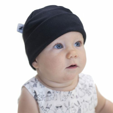 Puffin Gear Organic Cotton Jersey Beanie Black