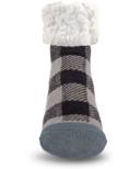 Pudus Classic Slipper Sock Lumberjack Grey