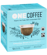 OneCoffee Organic Single Serve Coffee Colombian Blend Medium Roast