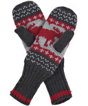 Hatley Little Blue House Heritage Adult Mittens Red Moose