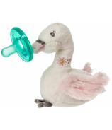 WubbaNub Itsy Glitzy Swan Plush Pacifier
