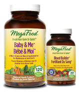 MegaFood Baby & Me Multi-Vitamin with Bonus Blood Builder