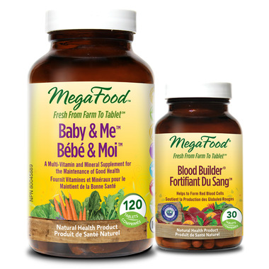 MegaFood Baby & Me Multi-Vitamin with Bonus Blood Builder