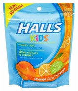 Halls Kids Vitamin C Pops Orange Flavour