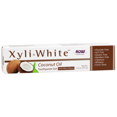 NOW XyliWhite Coconut Oil Toothpaste Gel