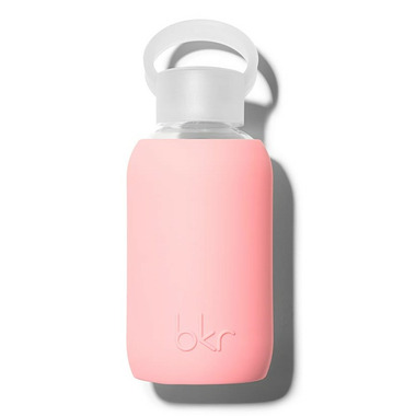 bkr Elle Glass Water Bottle Opaque Pastel Fluorescent Coral