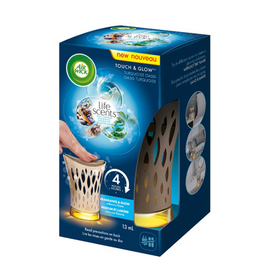 Air Wick Air Freshener Touch & Glow Flameless Candle Turquiose Oasis