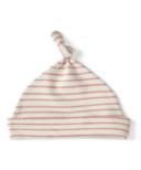 Petit Pehr Stripes Away Knot Hat Dark Pink