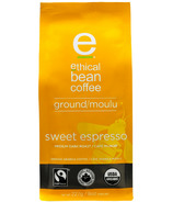 Ethical Bean Coffee Sweet Espresso Medium Dark Roast Ground Coffee