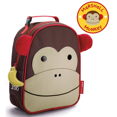 Skip Hop Zoo Lunchies Insulated Lunch Bag Monkey Design