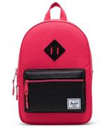 Herschel Supply Heritage Kids Backpack Rouge Red and Black Sparkle