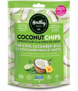 Healthy Crunch The Cool Cucumber + Dill Coconut Chips