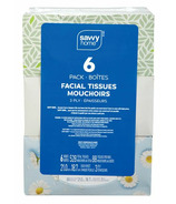 Savvy Home Facial Tissue 3 Ply 6 Pack
