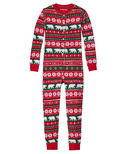 Little Blue House by Hatley Kids Union Suit Beary Xmas