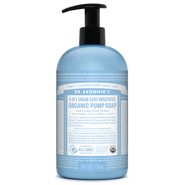 Dr. Bronner\'s 4-in-1 Sugar Baby Unscented Organic Pump Soap