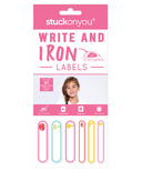 Stuck on You Write on Labels Iron on Pink
