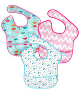 Bumkins SuperBib Rain Drops, Pink Chevron & Umbrella