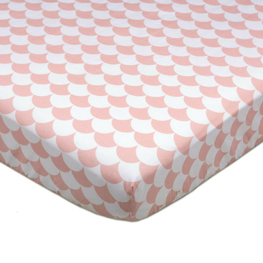 Lolli Living Fitted Sheet Kayden Pink Scallop