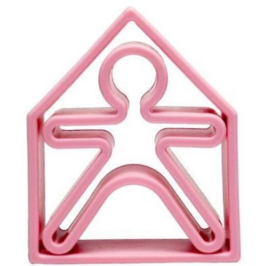 dena Toys 1 Kid and 1 House Soft Pink