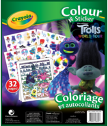 Crayola Colour & Sticker Book Trolls World Tour