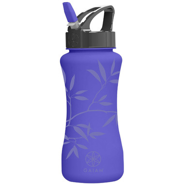 Gaiam EZ-Flip Water Bottle Ash Leaves
