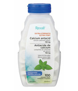 Rexall Extra Strength Calcium Antacid Peppermint Chewable 750mg