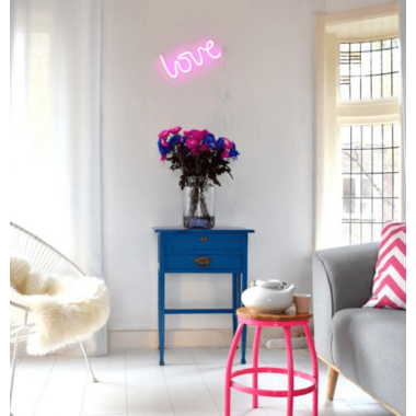 A Little Lovely Company Pink Neon Light Love