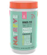 Natreve Grass Fed Whey Protein Powder Fudge Brownie