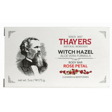 Thayers Witch Hazel Aloe Vera Body Bar Rose Petal