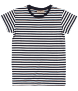 Nordic Label Short Sleeve Stripped T-Shirt Navy Total Eclipse