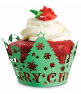 Christmas Tree Cupcake Wraps