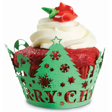 Christmas Tree Cupcake Wraps